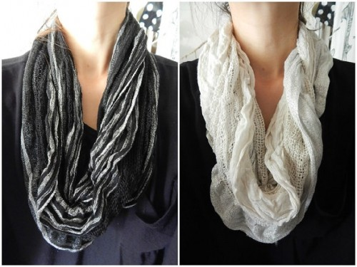 Making Snood from old clothes4-2