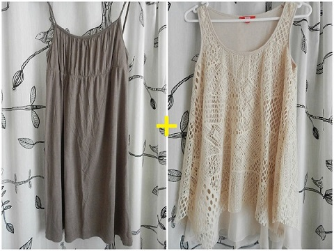DIY Poncho Khaki Before