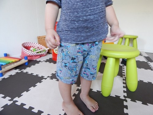 Make Kid Shorts Out of Old Clothes 14-1