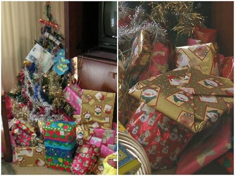 Christmas Gift Wrapping Before