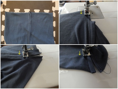 Make A Drawstring Bag From A Tshirt5