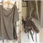 Tシャツの裾を簡単リメイク!ギャザーの寄せ方・縫い方[ミシン編]