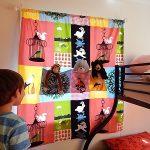 かわいくて便利!子供部屋にウォールポケット風手作りカーテン