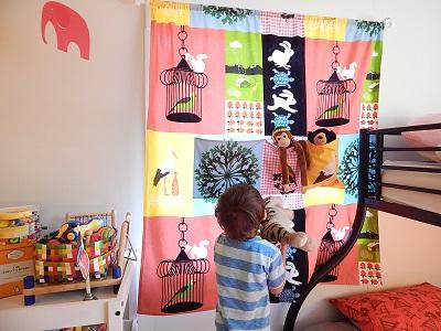 DIY Curtain With Pockets27