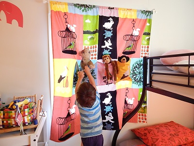 DIY Curtain With Pockets29