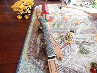 Plarail With IKEA BRIO Wooden Rails13