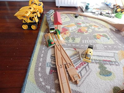 Plarail With IKEA BRIO Wooden Rails14
