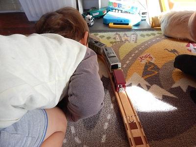 Plarail With IKEA BRIO Wooden Rails19