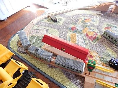 Plarail With IKEA BRIO Wooden Rails7