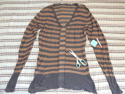 make-a-cardigan-from-a-pullover-sweater5